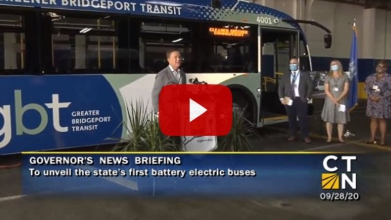Governor Lamont unveils Connecticut's first battery-electric public transit buses