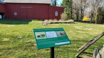 Weston Historical Society receives award from the Connecticut League of History Organizations for Outdoor Historic Interpretive Signage