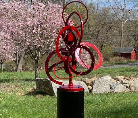 Weston Historical Society Installs Sculpture Garden Featuring Art by the late Daniel E. Offutt, III