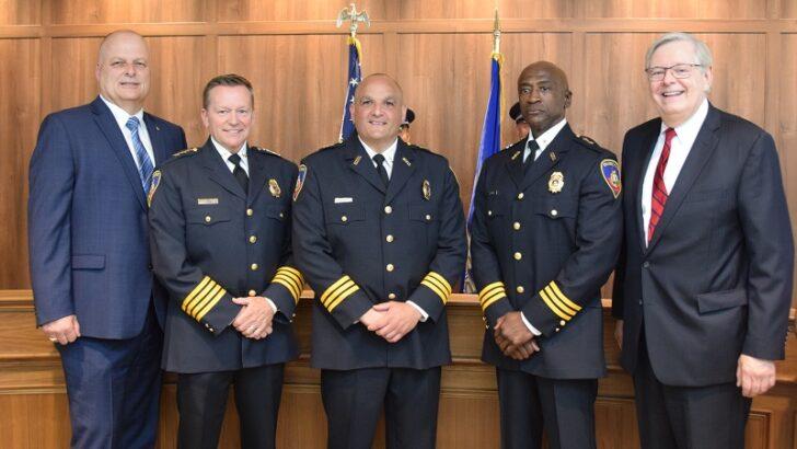 Stamford Mayor Martin Swears-in Assistant Chiefs of Police Louis DeRubeis & Silas Redd